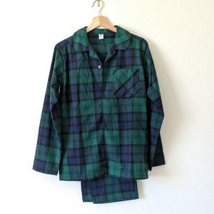 OLD NAVY Flannel Pajama Set Plaid Child XXL 18 NWT
